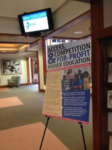 "AERA Conference Grant supported ""Access, Competition, For-profit Higher Education"""